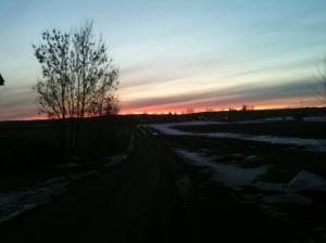 Fin solnedgång ute på landet