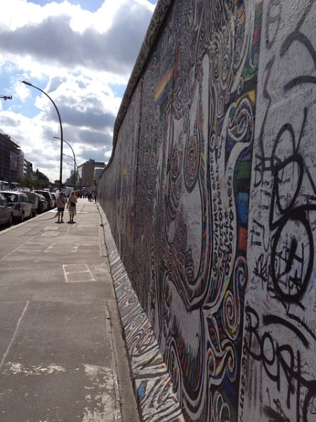 Cold war Berlin wall